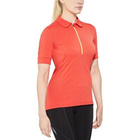 Norrøna fjørå equaliser lightweight  Fietsshirt korte mouwen Dames oranje/rood